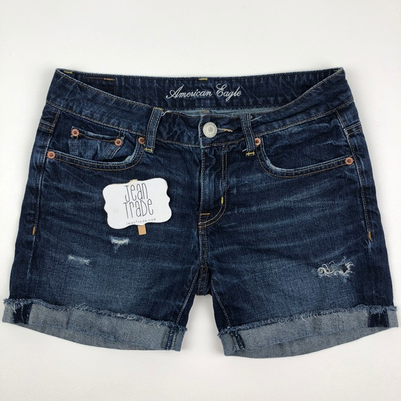 American Eagle Outfitters Pants - AEO American Eagle Distressed Jean Shorts